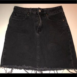 Black Denim Skirt (SALE)